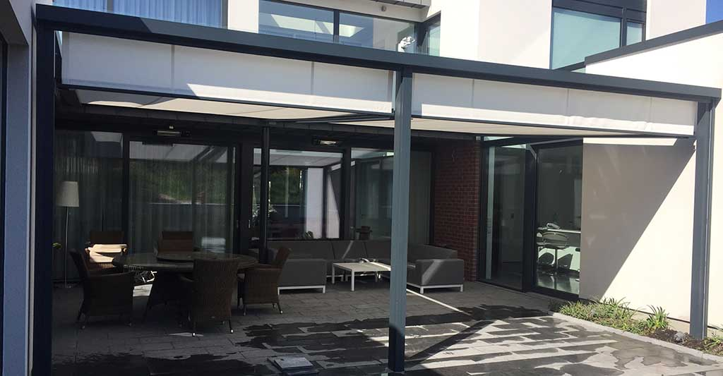 Cubola Sun Shading Pergola Awnings External Roller Blinds